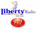 Logo da emissora Liberty Radio 91.7 FM