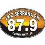 Logo da emissora Rádio Voz Serrana 87.9 FM