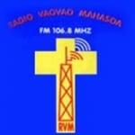 Logo da emissora Radio Vaovao Mahasoa 106.8 FM