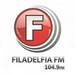 Logo da emissora Rádio Filadelfia 104.9 FM