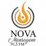 Logo da emissora Radio Nova Mensagem 91.5 FM