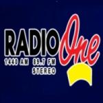 Logo da emissora Radio One 89.5 FM