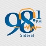 Logo da emissora Rádio Sideral 98.1 FM