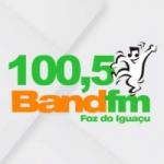 Logo da emissora Rádio Band FM 100.5