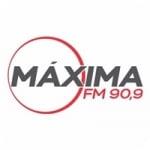 Logo da emissora Rádio Máxima 90.9 FM