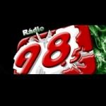 Logo da emissora Rádio 98.5 FM