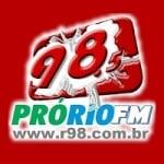 Logo da emissora Rádio Pró-Rio 98.5 FM