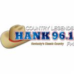 Logo da emissora Radio WLXO Hank 96.1 FM