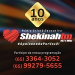 Logo da emissora Radio Shekinah 107.1 FM
