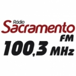 Logo da emissora Rádio Sacramento 100.3 FM