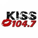 Logo da emissora Radio KXNC Kiss 104.7 FM