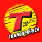 Logo da emissora Rádio Transamérica Pop 105.7 FM