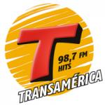 Logo da emissora Rádio Transamérica 98.7 FM