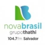 Logo da emissora Radio Nova Brasil 104.7 FM