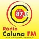 Logo da emissora Radio Coluna 87.5 FM