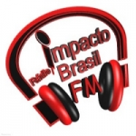 Logo da emissora Rádio Impacto Brasil FM