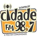 Logo da emissora Radio Cidade 98.7 FM