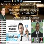 Logo da emissora Radio Espaço Gospel 93 FM