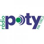 Logo da emissora Rádio Poty 100.5 FM