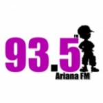 Logo da emissora Radio Ariana 93.5 FM