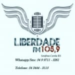 Logo da emissora Liberdade FM 105.9