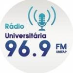 Logo da emissora Radio Universitária UNIFAP FM 96.9
