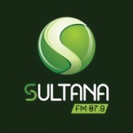 Logo da emissora Rádio Sultana 87.9 FM