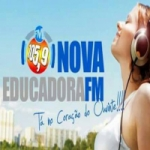 Logo da emissora Radio Nova Educadora FM 105.9