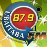Logo da emissora Rádio Ubaitaba 87.9 FM
