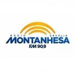 Logo da emissora Rádio Montanhesa Ervália 90.9 FM