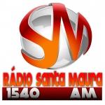 Logo da emissora Rádio Santa Maura 1540 AM