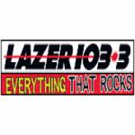 Logo da emissora Radio KAZR Lazer 103.3 FM