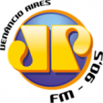 Logo da emissora Rádio Jovempan 90.5 FM
