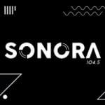 Logo da emissora Rádio Sonora 104.5 FM
