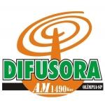 Logo da emissora Rádio Difusora 1490 AM