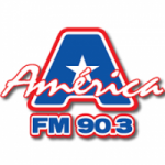 Logo da emissora Rádio América 90.3 FM