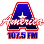Logo da emissora Rádio América 107.5 FM