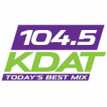 Logo da emissora Radio KDAT 104.5 FM