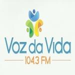 Logo da emissora Rádio Voz da Vida 104.3 FM
