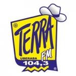 Logo da emissora Rádio Terra 104.3 FM