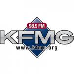Logo da emissora Radio KFMG 98.9 FM