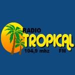 Logo da emissora Rádio Comunitária Tropical 104.9 FM