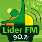 Logo da emissora Rádio Líder 90.7 FM