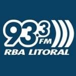 Logo da emissora Rádio RBA Litoral 93.3 FM