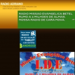Logo da emissora Rádio Adriano Missão Betel