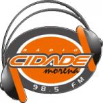 Logo da emissora Rádio Cidade Morena 98.5 FM