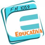 Logo da emissora Rádio Educativa 105.9 FM