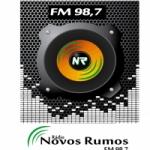 Logo da emissora Rádio Novos Rumos 98.7 FM