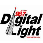 Logo da emissora Rádio Digital Light 98.7 FM