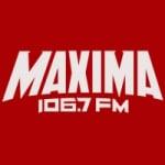 Logo da emissora Radio Máxima 106.7 FM